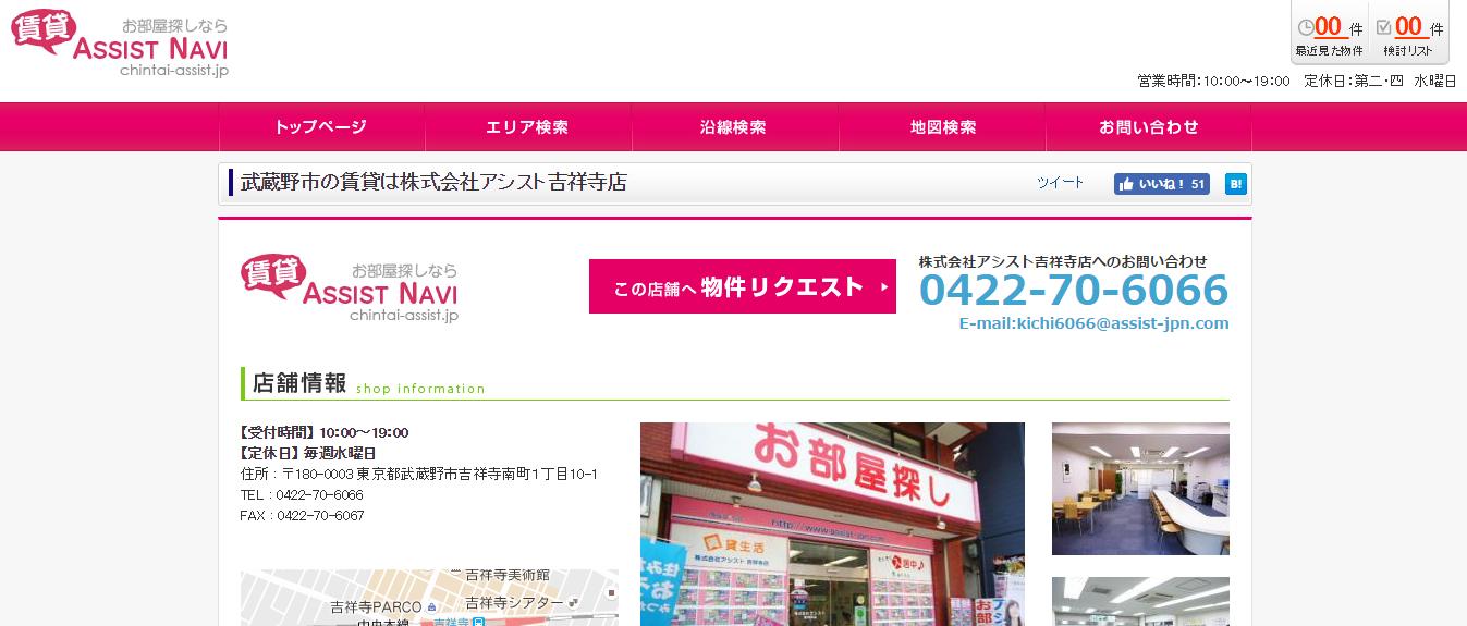 アシスト吉祥寺店の口コミ・評判