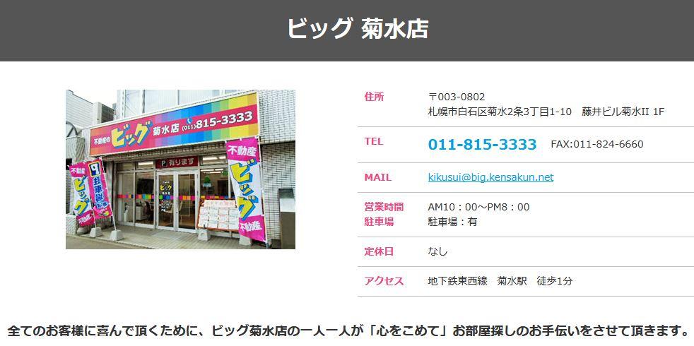 ビッグ 菊水店の口コミ・評判