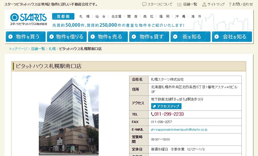 ピタットハウス 札幌駅南口店の口コミ・評判